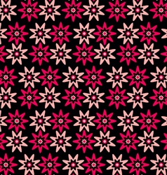 Background pink red flowers vector
