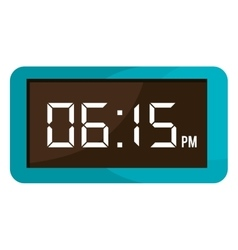 Colorful electronic watch graphic vector