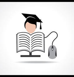 Computer education concept stock vector image