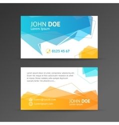 Abstract geometric bubble business card vector