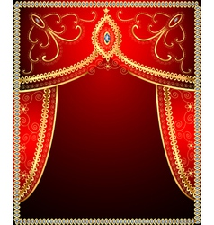 background with gold ornament vector image