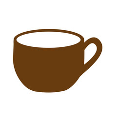 Brown silhouette cup with handle vector