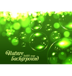 Bubble soap background vector image