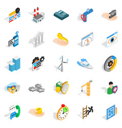 business consort icons set isometric style vector image