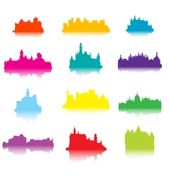 Castle silhouettes vector