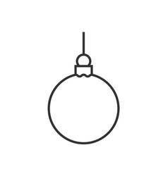 christmas ball line icon vector image vector image