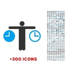 Compare time icon vector
