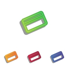 Credit card symbol for download colorfull vector