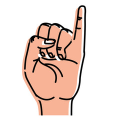 Cute hand with pinky up symbol vector