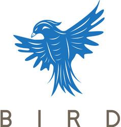 Design template of the abstract bird vector