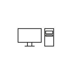 desktop computer icon vector image