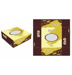 Elegant and beautiful cake box vector