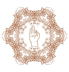 Element yoga mudra hands vector