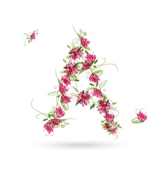 Floral letter a for your design vector