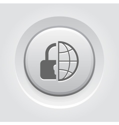 Global Security Icon vector image vector image