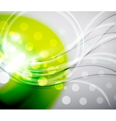 Green abstract wave background vector image vector image