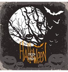 Halloween scary card vector