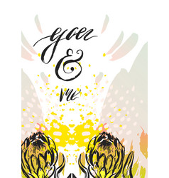 hand made graphic abstract floral valentine vector image vector image