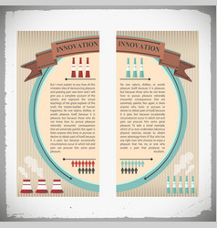 Industrial innovation banners vector