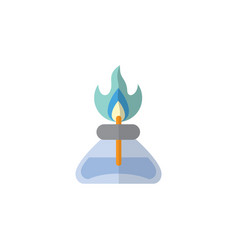 Isolated gas burner flat icon flame vector
