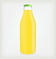 Lemon juice bottle vector