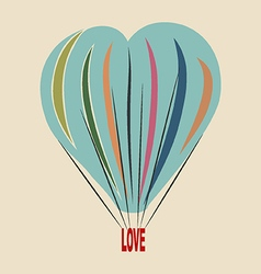 love balloon vector image vector image