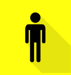 Man sign black icon with flat style vector