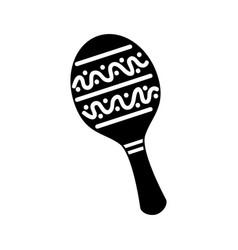 maraca mexican music instrument celebration vector image