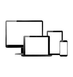 Monitor smartphone laptop tablet set vector image vector image