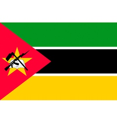 Mozambican flag vector image vector image