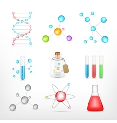 Science icons on white vector image vector image