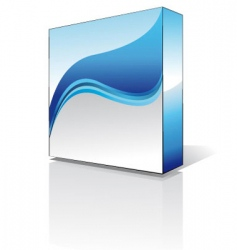 software box vector image