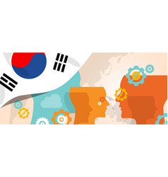 South korea concept of thinking growing innovation vector