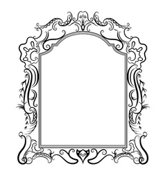 Stylized baroque frame vector