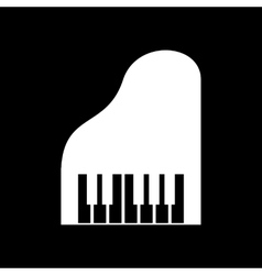 The piano icon Music and pianist musician vector image