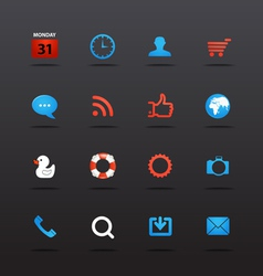 Web interface icons collection vector image vector image