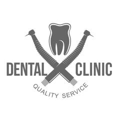 dental logo vector image