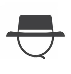 Tourist safari hat icon vector