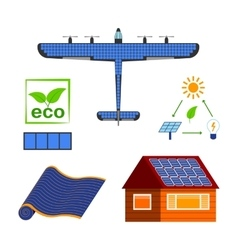 Solar energy set vector