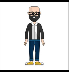 people man with casual cloth with glasses avatar vector image
