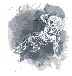Girl street dancer vector