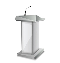Podium with mic vector