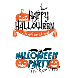 Happy halloween themed graphics vector