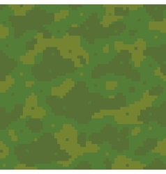 Pixel art army pattern vector