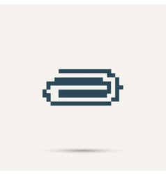 Simple stylish pixel icon clip design vector