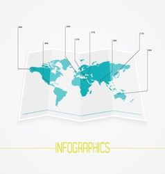 World map infographics vector