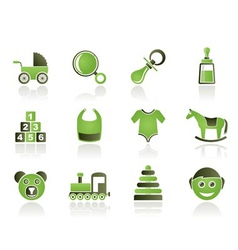 baby and children icons vector image