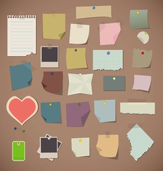 notes and old paper vector image