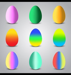 Easter egg colorful vector