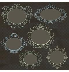 Vintage frame design vector